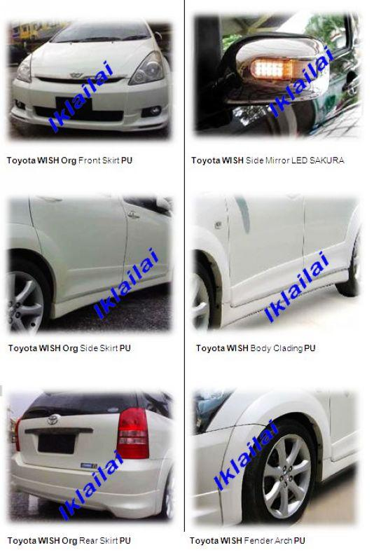 Toyota Wish '03 Original Body Kit [PU] / Side Mirror LED SAKURA