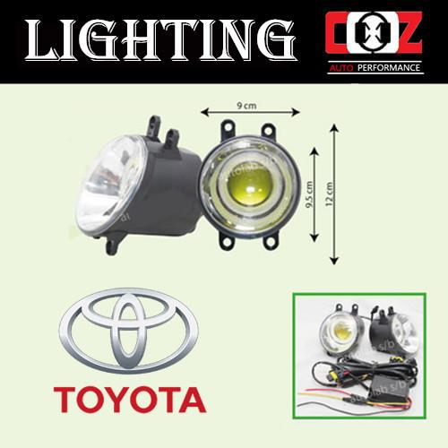 Toyota Wish 2009 Projector Fog Lamp Fog Lights C.O.B (6000K) Front Bum