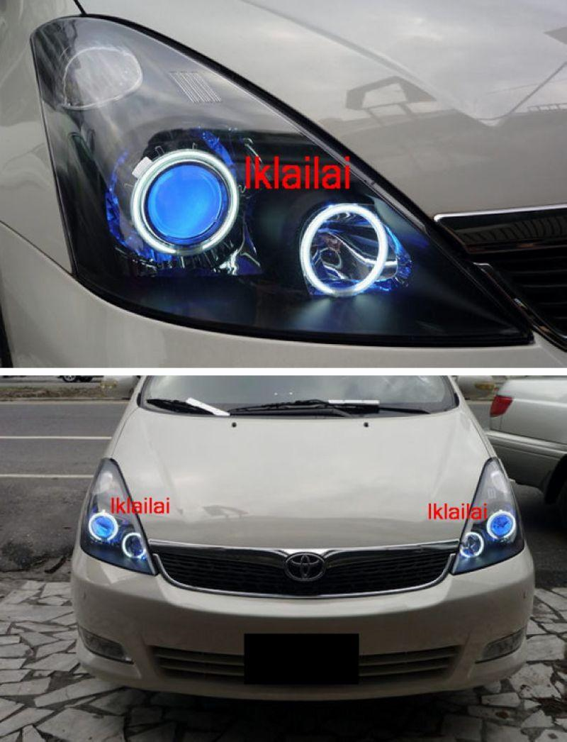 TOYOTA WISH Projector HeadLamp 2-Function DRL R8+Colour CCFL+Angel Eye