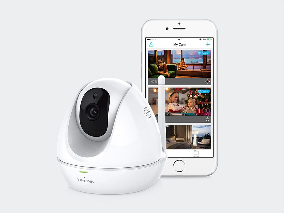 TP=LINK HD Pan/Tilt Wi-Fi Camera WITH NIGHT VISION NC450