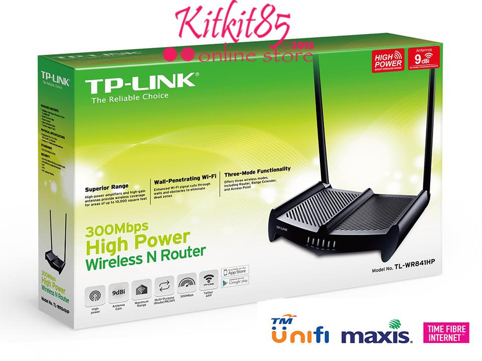 TP-Link High Power Wireless Router WiFi TL-WR841HP 9dBi UNIFI Maxis