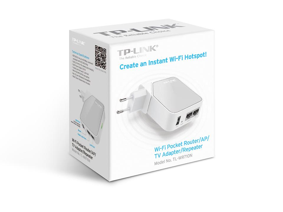 # TP-Link TL-WR710N Wi-Fi Pocket Router/AP/TV Adapter/Repeater #