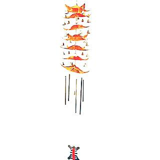 Traditional 7-Tier Pagoda Wind Chime - 5 Rods