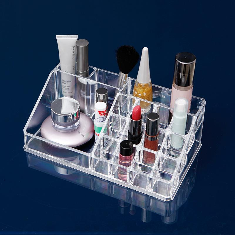 Transparent Acrylic Cosmetic Storage Box Rack Makeup (Big 16 cells)