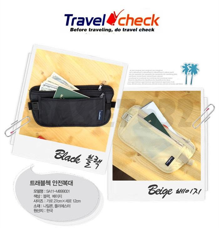 Travel Check  Nylon Anti Theft Travel Waist  Security Pouch Wallet