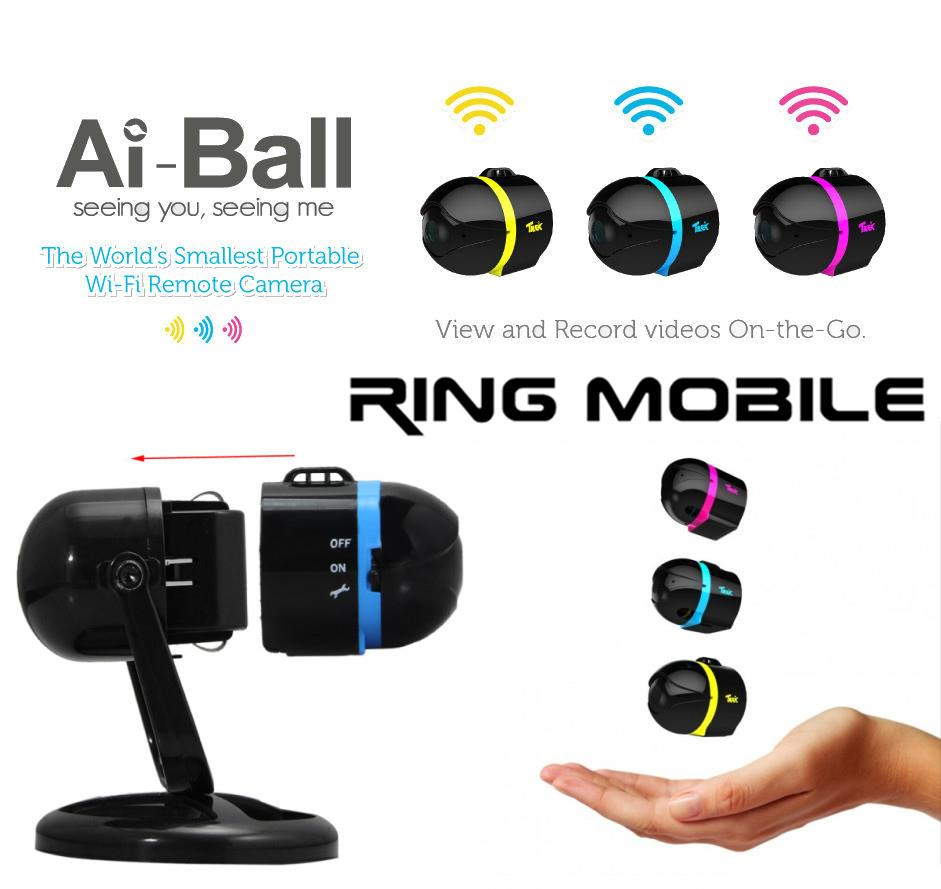 Trek Ai Ball Smallest Portable WiFi Remote Camera with Cradle - rmtlee