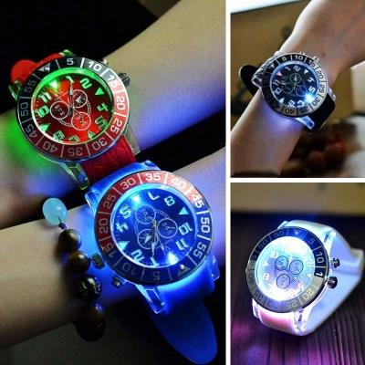 Trend LED Light Silicone Band Students Lovers Sport Wrist Watch