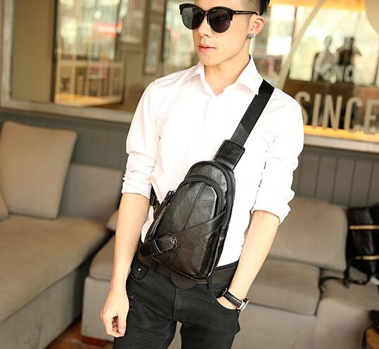 Trend of all-match portable retro chest bag