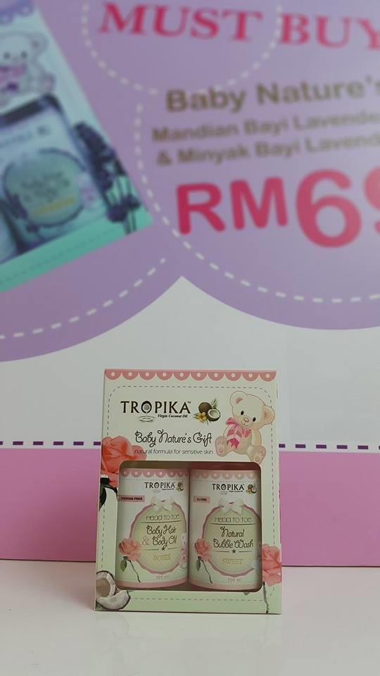 Tropika Mandian Rose 100ml + Baby Oil Rose 100ml