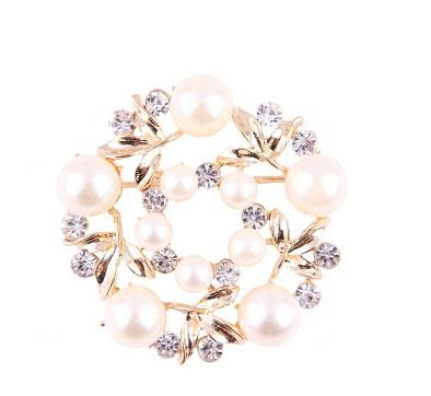 Tudung Pin/Brooch/Scarf Pin Korea Fashion in Pearl Flower  4.5*4.5CM