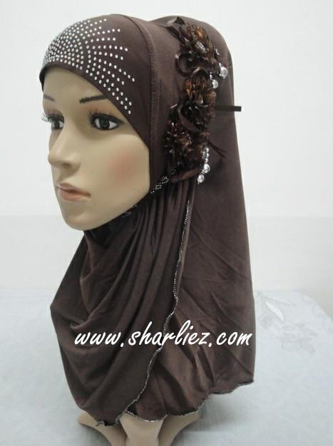 Tudung & Shawl flower pearl diamond beads
