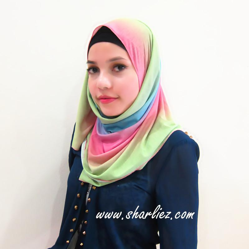 Tudung & Shawl mixed colour multi colour 3
