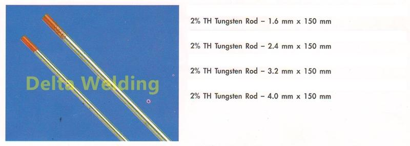 Tungsten 2% Thoriated Welding Malaysia Rod 4.0mm (per pcs)