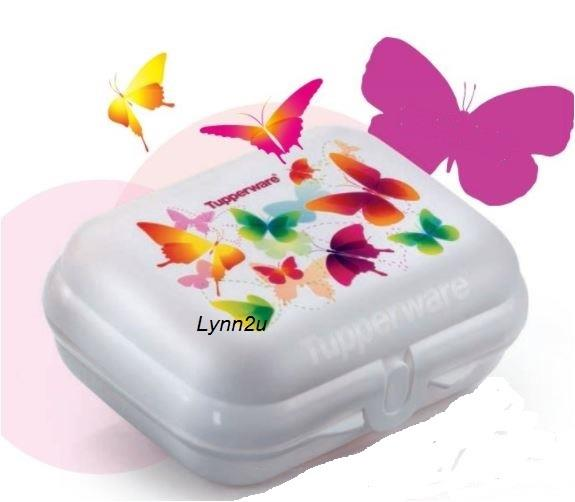 Tupperware Butterfly Collection Oyster Medium (1)