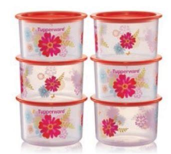 Tupperware Fortune Blooms Topper Junior (6) 600ml