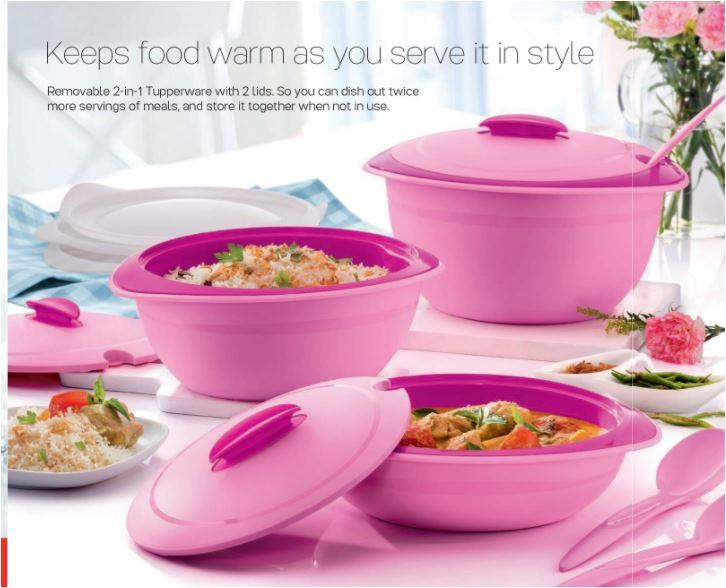 Tupperware Insulated Server 2.5L with Spoon