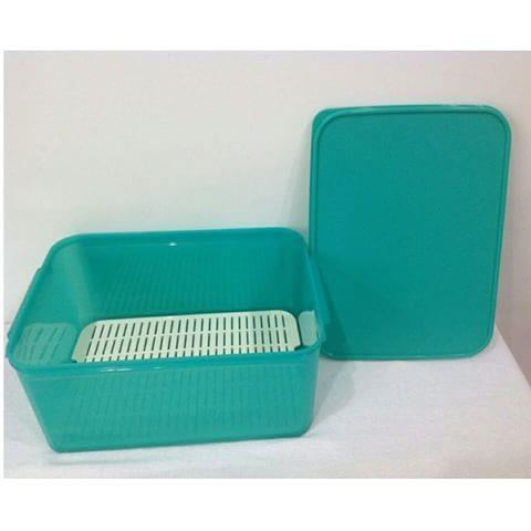 Tupperware Jumbo Modular Keeper with Grid 9.4L