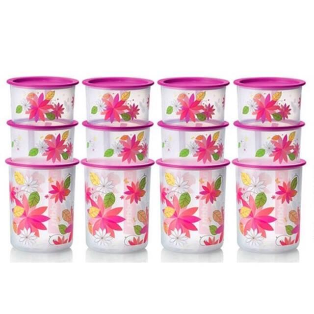 Tupperware One Touch Pink Blossom Set (3)