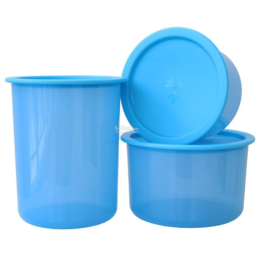 Tupperware One Touch Topper set - Blue (1.25L, 950ml and 650ml)