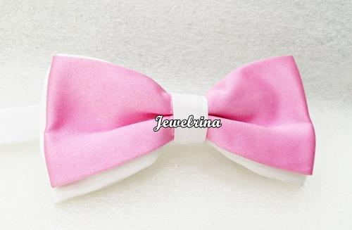Tuxedo Bow Ties - Pink Mix White (Free Shipping)