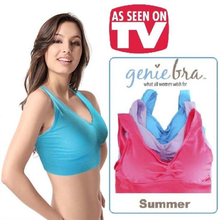 As Seen On TV~ Genie Bra with pads Pastel (3 pcs)