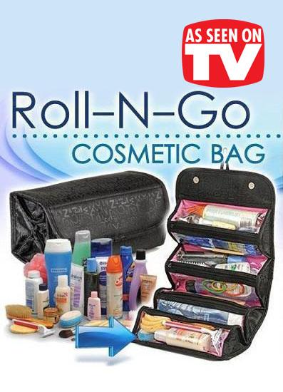 As Seen On TV~ Roll-N-Go Cosmetic Bag