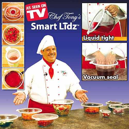 As Seen On TV~Smart Lidz Safe & Leak Proof Vacuum Seal