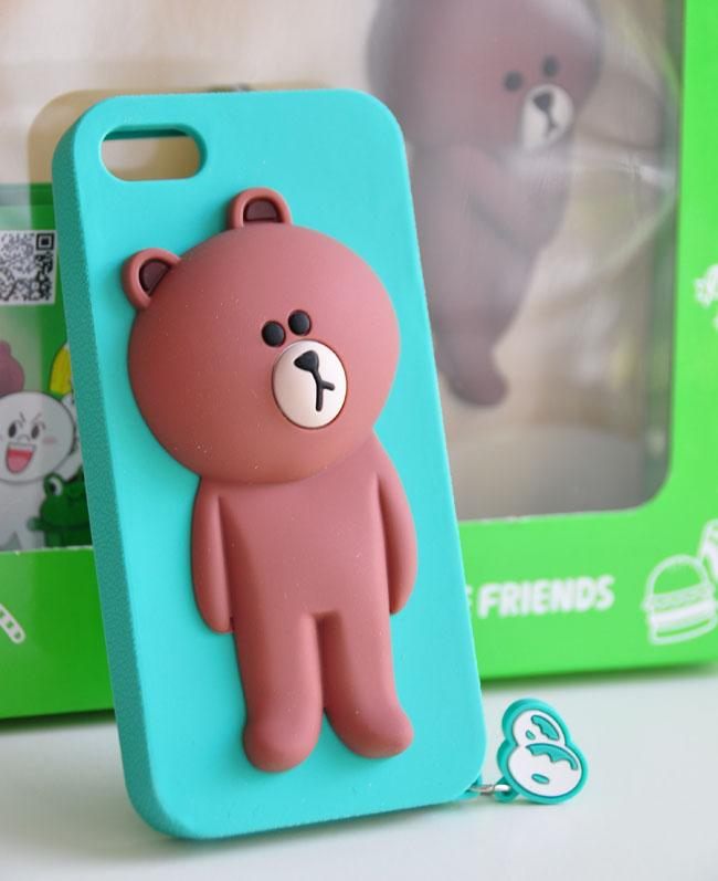 Cute Line Brown Bear Phone Cases For Iphone 6 6s Plus 7 7plus Soft Silicone