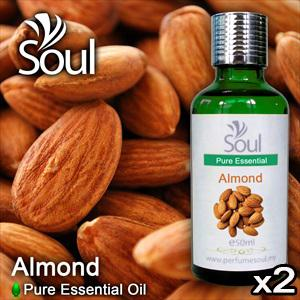 Twin Pack Pure Essential Oil Almond - 50ml
