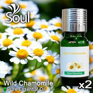 Twin Pack Pure Essential Oil Chamomile - Wild Chamomile - 10ml
