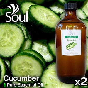 Twin Pack Pure Essential Oil Cucumber - 500ml
