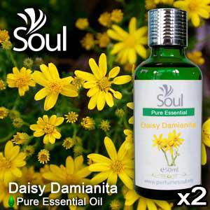 Twin Pack Pure Essential Oil Daisy Damianita - 50ml