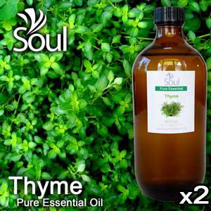 Twin Pack Pure Essential Oil Thyme (Common Thyme) - 500ml