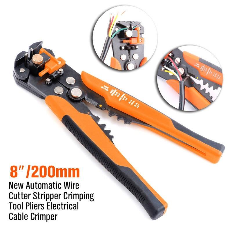 "TwinMaster 8"" Automatic Wire Stripper & Crimping Pliers"
