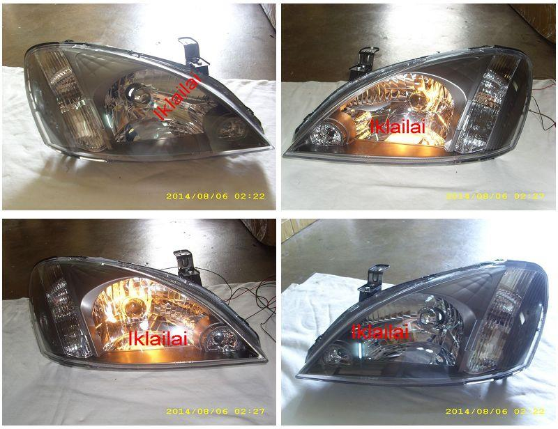 TYC Nissan Sentra N16 '01-'05 Crystal Head Lamp [Black-Chrome]