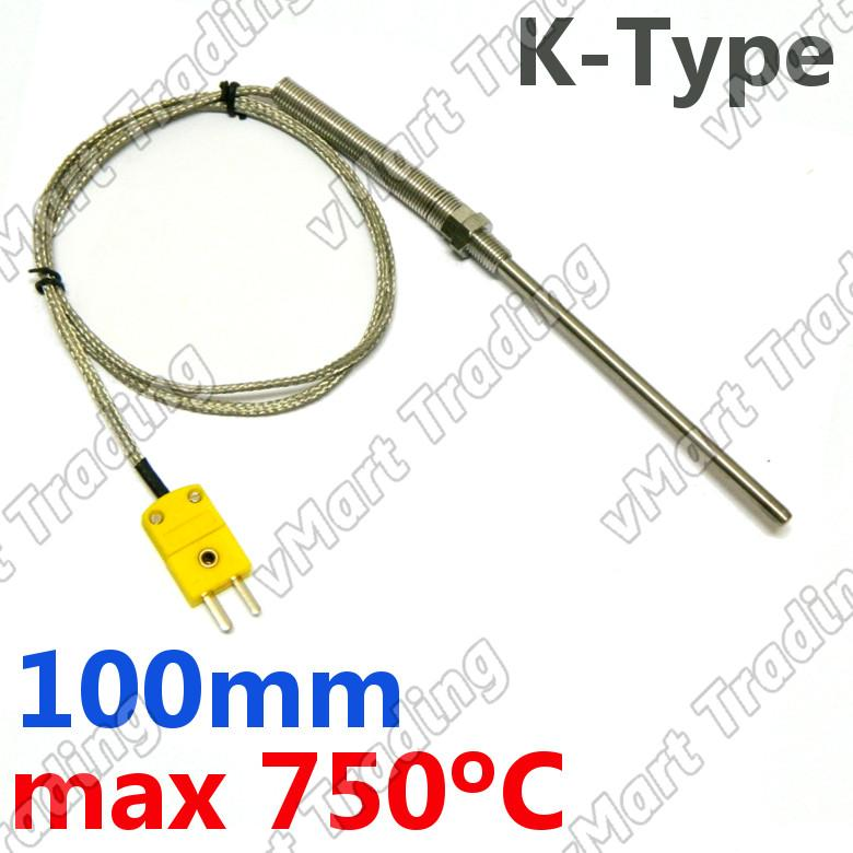 Type-K Thermocouple with 100mm Stainless Steel Probe