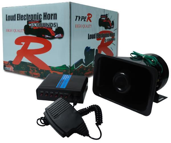 TYPE-R LOUD ELECTRONIC HORN 5 Tone Police Talking Siren