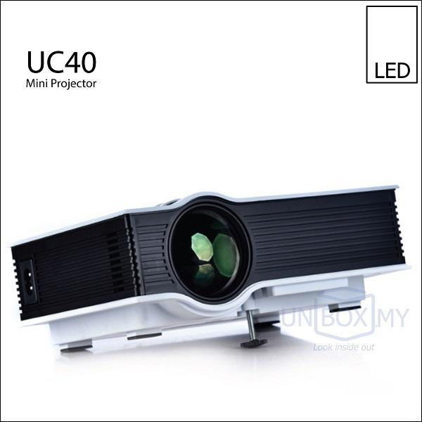 UC40 LED 800lm Mini Portable Projector