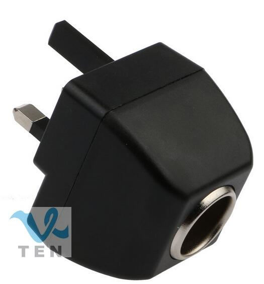 UK Plug Universal 220V AC to 12V DC Car Cigar Cigarette Lighter Socket