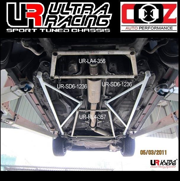 ULTRA RACING REAR LOWER  BAR  VOLVO 850 (TURBO SEDAN) OBD1