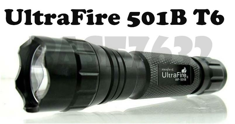 Ultrafire  501B Flashlight Torchlight T6 LED Bulb 5-Mode
