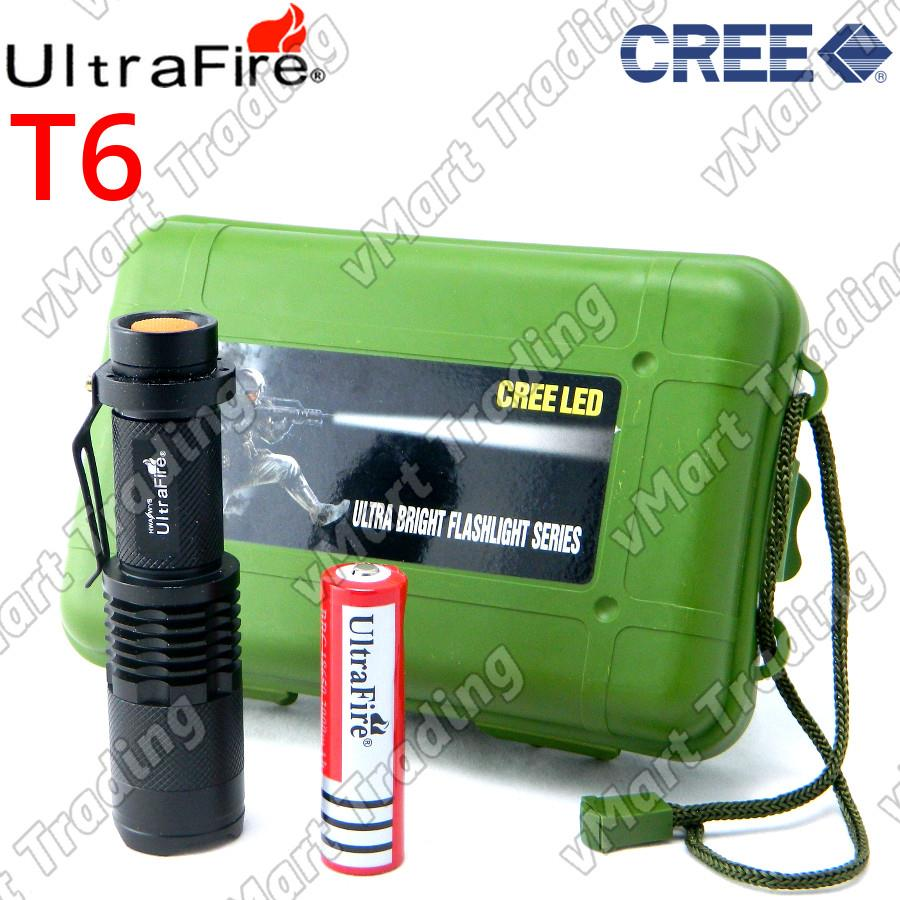 UltraFire SK-98 Mini CREE XM-L T6 Flashlight Torchlight