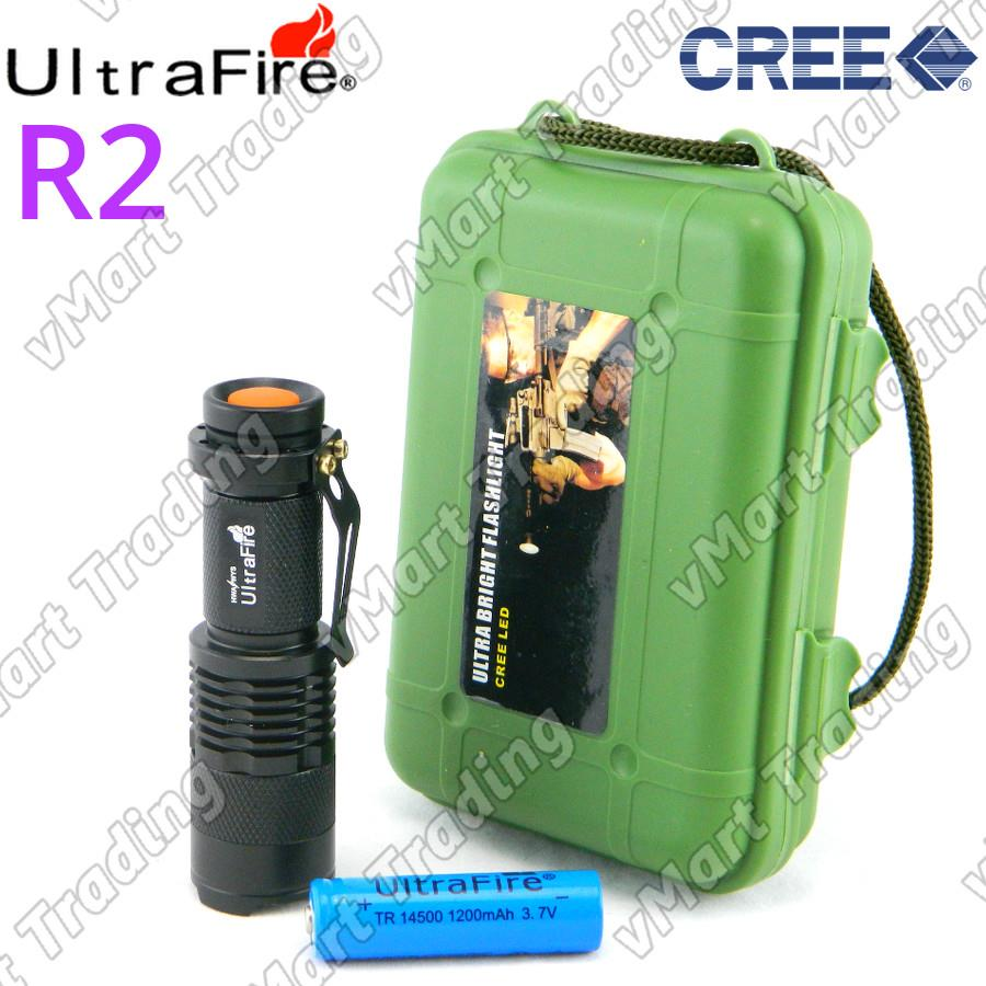 UltraFire SK68 Micro CREE R2 Flashlight Torchlight