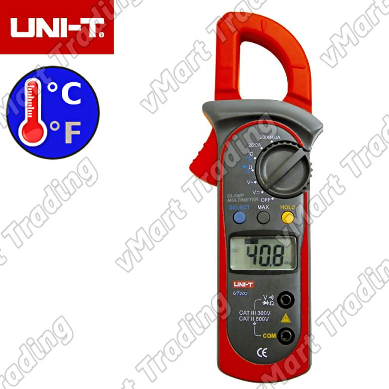 UNI-T UT202 AC Current Clamp Multimeter with Thermometer Function