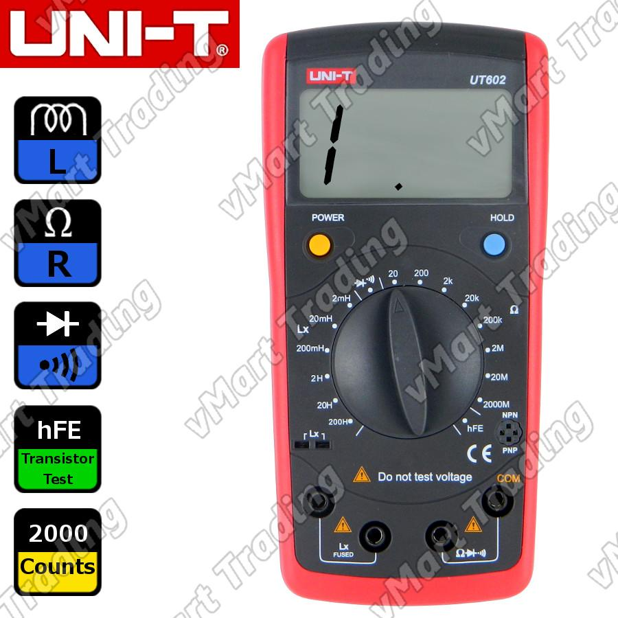 UNI-T UT602 Digital LR Multimeter [Inductance + Resistance]