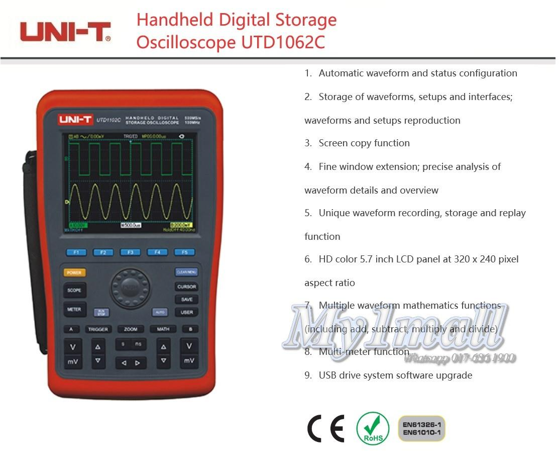 UNI-T UTD1062C HANDHELD DIGITAL STORAGE