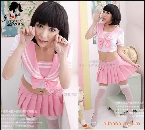 Uniform Costume Pink Women Sexy Student MA4001