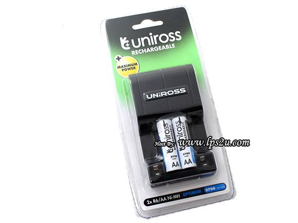 Uniross 2xAA 2700mah Compact Fast Battery Charger (U0230698)