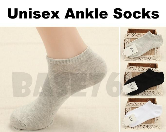 Unisex  Low Cut Crew Short Ankle Boat Cotton Sock Socks Casual Sports