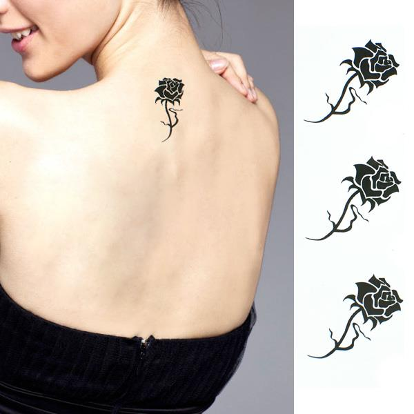 Unisex Type Waterproof Tattoo Stickers (Rose)